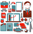 Flat design concept icons of Modern businessman vector image