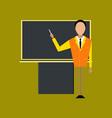flat icon on stylish background male teacher vector image