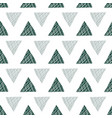 forest green and white triangles pattern vector image vector image