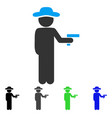 gentleman robber flat icon vector image