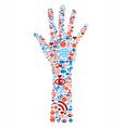 Hand symbol media icons vector image vector image