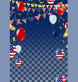 happy 4th of july holiday banner usa vector image