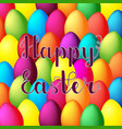 happy easter card happy easter lettering on vector image vector image