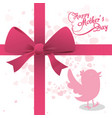 happy mothers day bird ribbon bow decoration vector image