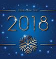 happy new 2018 year seasons greetings banner vector image vector image