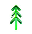 happy new year from plastic or christmas tree of vector image