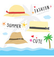 hat fashion summer cute cartoon vector image vector image