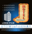 hotel bright template vector image vector image