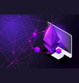 isometry icon blockchain ethereum crypto currency vector image vector image