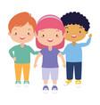 kids character happy vector image vector image