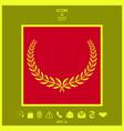 laurel wreath element for yor design vector image vector image