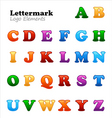 letter marks vector image vector image