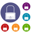 little bag icons set vector image vector image