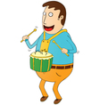 Man playing drum vector image