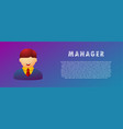 manager avatar flat gradient vector image vector image