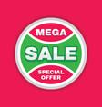 mega sale concept circle banner design discount vector image