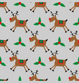 merry christmas seamless pattern with fanny deer vector image vector image