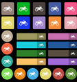 Motorbike icon sign Set from twenty seven vector image vector image