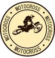 Motorcycle sign background vector image vector image
