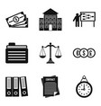 personal file icons set simple style vector image vector image