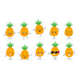 pineapple emoticon n2 vector image