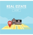 real estate concept with house for sale and rent vector image vector image