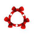Red ribbons in circle vector image vector image