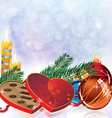 Romantic Christmas sparkling background vector image vector image
