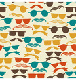 Seamless hipster pattern with glasses vector image vector image