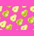 seamless pattern with pears and slices vector image vector image
