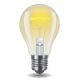 shiny classic light bulb vector image vector image