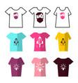 shirts symbols tshirts icons set with prints vector image vector image