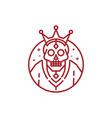 skeleton skull king logo vector image