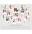 Social network concept with flat characters of vector image vector image