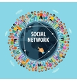 social network logo design template people vector image vector image