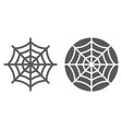 spider web line and glyph icon halloween vector image vector image