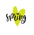 spring love handwritting typography icon vector image vector image