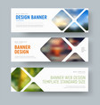 template of horizontal standard banners with vector image vector image