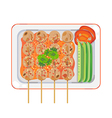thai meatball vector image