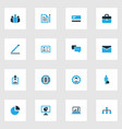 trade colorful icons set collection of vector image vector image