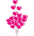 valentine s day with red hearts balloons vector image vector image