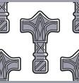 vikings weapon seamless pattern mjolnir hammer of vector image