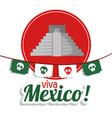 viva mexico - pyramid festival poster vector image vector image