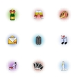 Wedding ceremony icons set pop-art style vector image vector image