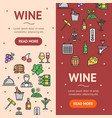 wine drink banner vecrtical set vector image vector image