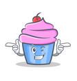 wink cupcake character cartoon style vector image vector image