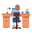 woman working in office avatar character vector image vector image