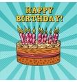 Happy Birthday Greeting Card Pop Art vector image