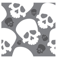 seamless wallpaper with skulls vector image