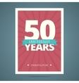 50 year anniversary card vector image